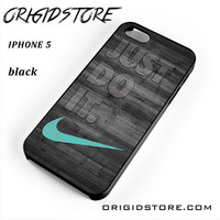 New Nike Mint Just Do It Wooden For Iphone 5 Iphone 5S Case UY