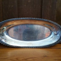 Vintage Long Silver Plated WM Rogers Fairpoint EPNS Tray