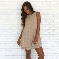 Mocha Latte Shift Dress