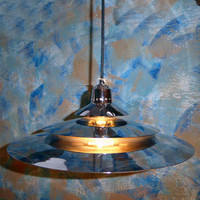 Stunning silver UFO ceiling lamp from the 70-80