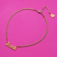 Freak Nameplate Necklace