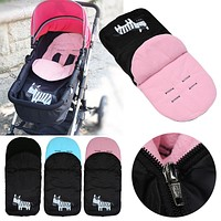 Baby Stroller Accessories Foot Cover Kids Child Baby Trolley Thickened Feet Warming Stroller Pad Cover Sleeping Bag