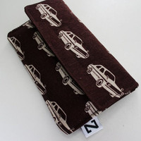 iphone 5 sleeve, Accessories for iPhone, iphone 5 case, Cell Phone Case, Cell Phone sleeve Cars, brown fabric case, unisex gift, geek gift