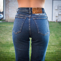 """ALL SIZES Vintage """"HERA"""" High Waisted Denim Jeans"""