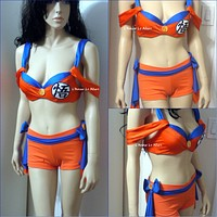 Dragon Ball Z Goku Cosplay Dance Costume Rave Bra