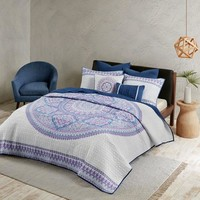 Kassie Moroccan Mandala 7 PC Quilt Bedding SET