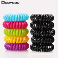 Candy colored telephone line hair ring,Hair Accessories ,hair rope, spring rubber band, mix 20pcs/lot