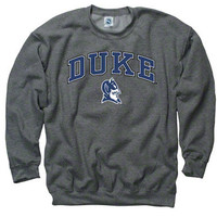 Duke Blue Devils Dark Heather Perennial II Crewneck Sweatshirt