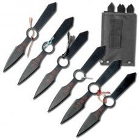 "Thrown Weapons : Black Throwing Knife Set (8.5"")"