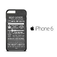 Game Of Thrones Quotes Lannister Stark iPhone 6 Case