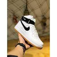 Nike Air Force 1 High '07 3'White/Red   Men Fashion Boots fashionable Casual leather Breathable Sneakers Running Shoes