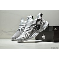 Adidas Alphabounce Instinct new street fashion casual sports light running shoes White