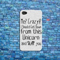 Funny Animal Unicorn Quote Case Cute Rubber iPod Cover iPhone Custom