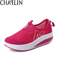 2017 Height Increasing and Lightweight Flats Breathable Summer Shoes Women's Casual Shoes Fashion Flat Shoe for Women Zapatos