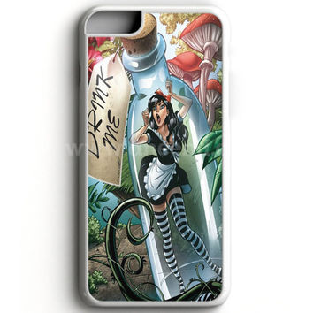 Alice In Wonderland And Tardis Doctor Who iPhone 7 Case   aneend