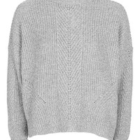 PETITE Boxy Ribbed Knitted Jumper | Topshop