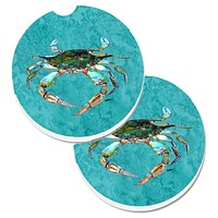 Crab Set of 2 Cup Holder Car Coasters 8657CARC