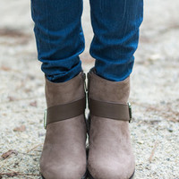 The Long Road Booties, Taupe
