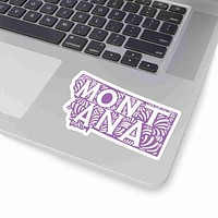 Montana State Shape Sticker Decal - Purple