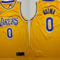 2018-19 Lakers #0 Kyle Kuzma Basketball Jersey DCCK