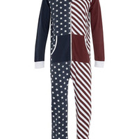 Americana Hooded Onesuit - Men's Onesuits   - Clothing