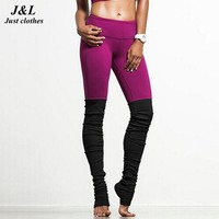 Fashion New! Candy Colors And Black Patchwork Women Leggings Esportivos Adventure Time Gothic 6 Styles Sporting Legging Leggins