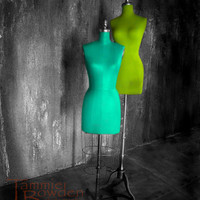 Aqua & Lime Mannequins  8x10 Photo  Turquoise by TammieBowdenPhoto