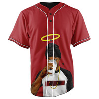 RIP Lil Snupe Button Up Baseball Jersey