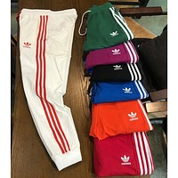 ADIDAS Clover 2018 Spring Summer Couples Men and women Wild Sweatpants F-XMCP-YC white