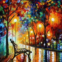 The Loneliness Of Autumn - oil painting by Leonid Afremov