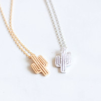 Cactus Dainty Necklace - Stainless Steel