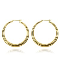 New Arrival 18K Gold Plated French Lock Hoop Earrings