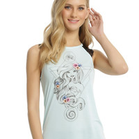 Disney The Little Mermaid Ariel Lace Sleeve Girls Tank Top