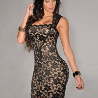 2015 New Women Summer Dress Sexy Lace Embroidery Bodycon Pencil Dress Fashion Evening Party Dress = 1946129284