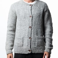 Handknit Alpaca Topo Cardigan at INDUSTRY OF ALL NATIONS™ in HEATHER GREY in XS, S, M, L, XL
