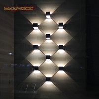 Modern Bedside 7W LED Wall Lamps Outdoor Waterproof Wall Lamp Garden Lights Living Room Light Aisle Background Stairs sconce