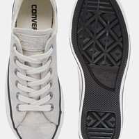 Converse Sparkle Silver Chuck Taylor With Hardware Trainers