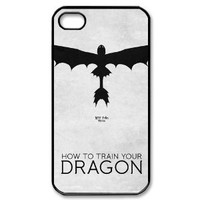 How to Train Your Dragon iPhone 4/4s Case Hard Back Cover Case for iPhone 4/4s