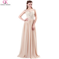 Elegant Chiffon Appliques Lace Full Length Ball Wedding Party Formal Celebrity Evening Gowns Prom Dresses
