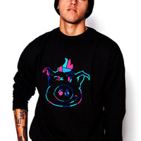 Mosaic Face Crewneck Fleece - ShopDirtyPig