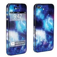 Apple iPhone 4 or 4s Full Body Vinyl Decal Sticker Skin Blue Space By Skinguardz:Amazon:Cell Phones & Accessories