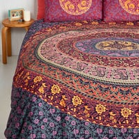 Boho Bohemian Bliss Duvet Cover Set in Magenta - Full, Queen by Karma Living from ModCloth