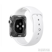 The Black & White Floral Lace Full-Body Skin Kit for the Apple Watch