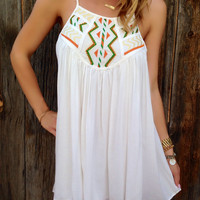 Embroidered Flowy Dress