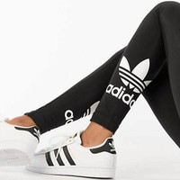 """Adidas"" Women All-match Fashion Clover Pattern Cotton Print Leggings Pants Trousers Sweatpants"