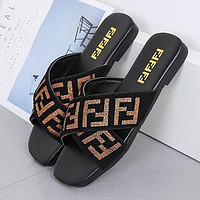FENDI Women Casual Flat Sandal Slipper Shoes
