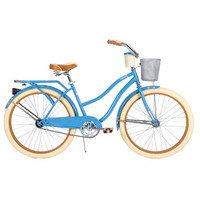 Huffy Deluxe Women's Cruiser Bike with Basket & Beverage Holder | Wayfair