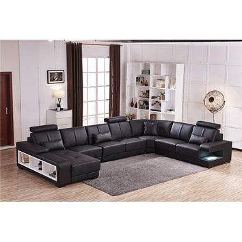 Innovative Style Comfort Modern Luxurious Leather Sectional Sofa Set