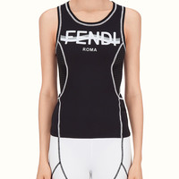 Black fabric tank top - TOP | Fendi | Fendi Online Store