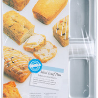 "mini loaf pan 6 cavity-6 cavity 4.5""x2.5""x1.5"""